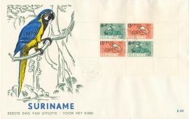 ¤¤¤ E 040 SURINAME Kinderzegels - Blok