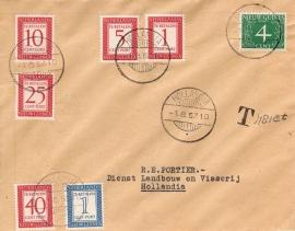 ¤¤¤¤¤ NVPH 1/6 Ned. Nieuw Guinea Portzegels