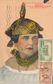 © 1939 MARTINIQUE Creole woman costume