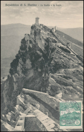 © 1914 - SAN ******** MARINO Three towers