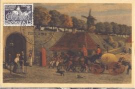 1951 DENMARK - Mail Stagecoach