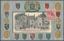 ® 1908 - CATA 60 Koningin Wilhelmina Koninklijke kroon Wapenschild
