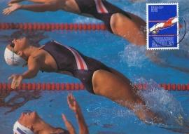 ®® 1981 NVPH 686 NED. ANTILLEN Zwemmen
