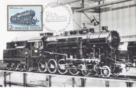 1968 HUNGARY - Locomotive Steam railway