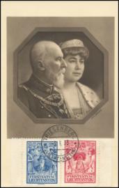 © 1933 LIECHTENSTEIN Princess Elsa and Prince Franz I