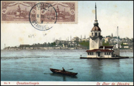 © 1914 - TURKEY Constantinople Leandros Tower