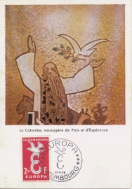 1958 LUXEMBOURG Dove Colombe