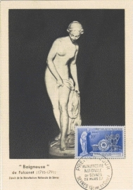 1957 FRANCE - Falconet nude
