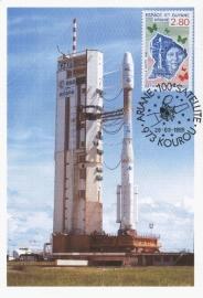 1995 FRANCE - ARIANE Satellite Kourou