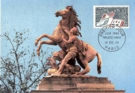 1963 FRANCE - Les chevaux de Marly
