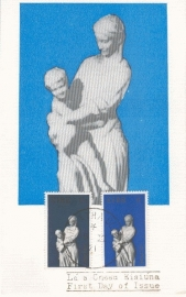 1971 IRELAND EIRE Madonna and child by Hughes