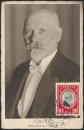 © 1939 - LATVIA Minister J. Tchaksté