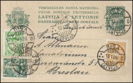 © 1926 - LATVIA Heraldic shield
