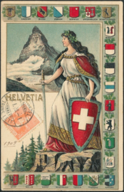 © 1909 SWITZERLAND Helvetia