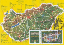 1982 HUNGARY - Map