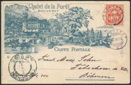 © 1898 SWITZERLAND Flag White cross