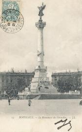 © 1904 - FRANCE Bordeaux Monument Girondins