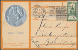 © 1923 NETHERLANDS Queen Wilhelmina
