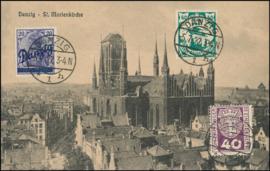 © 1922 - DANZIG - St. Mary's church