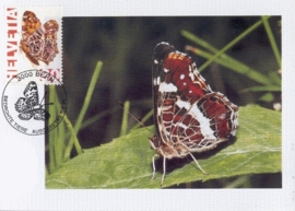 1995 SWITZERLAND Butterfly Araschina