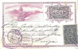 © 1897 GUATEMALA Locomotive