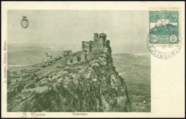 © 1905 - SAN ******** MARINO Three towers