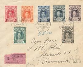 ¤¤¤ 1927 SURINAME Koningin Wilhelmina
