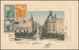 © 1902 ARGENTINA Republic statue Phrygian cap
