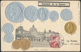 © 1911 SWITZERLAND Coins Helvetia