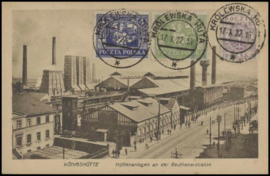 © 1922 - POLAND Factories at Königshütte