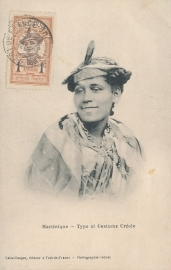 © 1911 MARTINIQUE Creole woman costume