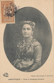 © 1910 MARTINIQUE Creole woman costume