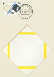® 1994 - CATA 1596 Compositie met gele lijnen