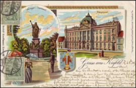 © 1905 - GERMAN REICH - Crefeld Statue Germania