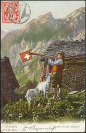 © 1905 SWITZERLAND Flag White cross