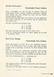 ¤¤¤¤¤ 1955 NNG Rode Kruis PTT Folder Viertalig