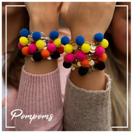 Jozemiek pompom armband set (12pcs) incl gratis display TWV €34,95