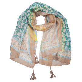 Sjaal paisley print met tassel