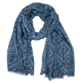 Sjaal paisley -blauw