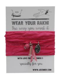 Rakhi classic choker /wrapbracelet Classic pink