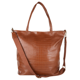 Croco Shopper -Cognac