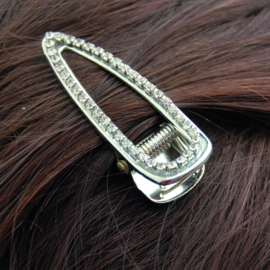 triangle hairclip strass zilver