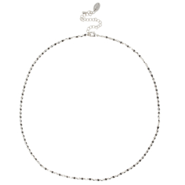 ONE DAY charity necklace black (14k geelgoud  of  witgoud)