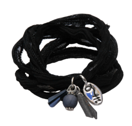 Rakhi classic choker /wrapbracelet Black