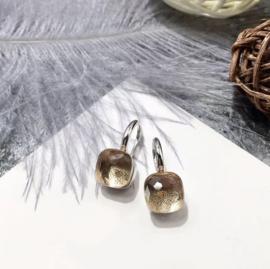 Jozemiek Stone earring Toffee - goud of zilver