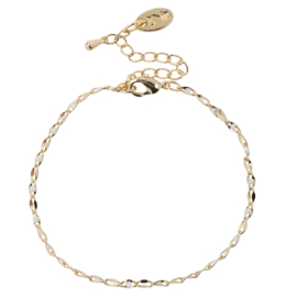 ONE DAY charity bracelet cloud white ( 14k  plated geelgoud  of  witgoud)