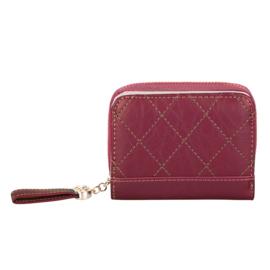Compacte portemonnee Kimmy - Rood