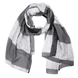 Sjaal ruitjes zwart