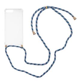 Iphone 7 /  8 Plus  hoesje met koord ( kies je kleur koord)