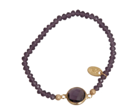 Jozemiek Embrace Minimalistic Cristal Stone Circle Purple